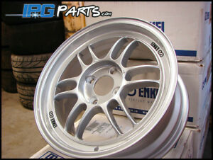Enkei Rpf1 15x7 41mm 4x100 Silver Light Weight Wheels Honda Civic Acura Integra