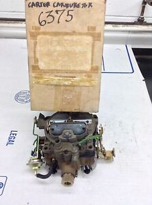 Nos Carter Quadrajet Carburetor 6375s 1972 Pontiac 400 Engines Auto Trans