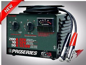 Battery Charger Jump Starter Proseries 200amp 12v Manual Booster Power Emergency