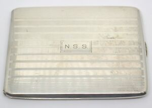 Vintage Shreve Crump Low Sterling Silver Cigarette Case Monogrammed Nss 7808dw