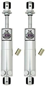 Viking Smooth Body Double Adjustable Shocks Rear Pair 63 82 Chevy Corvette