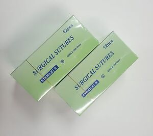 Lot X 10 Surgical Sutures Non Absorbable Suture Dental Nylon 3 0 Monofilament