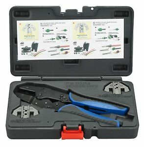 Otc Weather Pack Ratcheting Crimper Tool Kit W Interchangeable Heads 4484