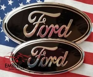 7 And 9 Black Ford Emblem 9 Prong Fits Grill Tailgate 99 2016 7 No Prong
