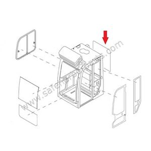 0378601900 Takeuchi Mini Excavator Rear Cab Window