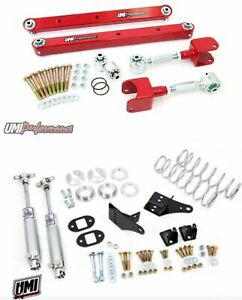 Umi 78 87 Regal El Co G body Rear Suspension Kit Control Arms Coilovers Red