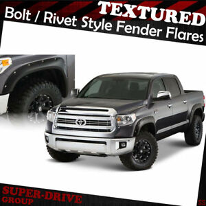 For 2014 2018 Toyota Tundra Fender Flares Pocket riveted Textured Bolt On Painta