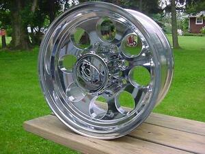 16x8 Ion Polished 8 Lug Baja Style Dodge Chevy Ford 8 On 6 5 Bp 171 Series Caps