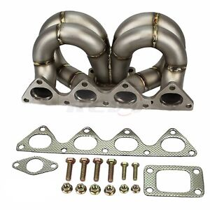 Rev9 Hp Series Honda Civic B16 B18 Equal Length Ram Horn Turbo Manifold T3 38mm