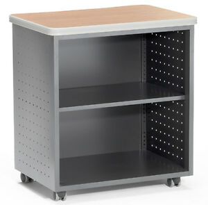 27 50 X 19 75 Mobile Utility Table W Shelf Maple Top Finish File Cabinet