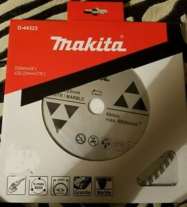 Makita D 44323 9 In X 7 8 Turbo Rim Granite marble Diamond Blade