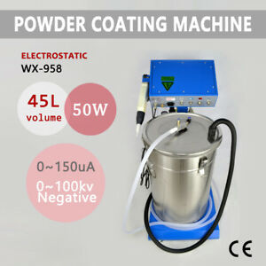 Powder Coating Wx 958 Electrostatic Machine 110 220v Spraying Gun Us Stock