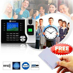 2 4 Biometric Fingerprint Time Attendance Machine Time Clock Realand A c071