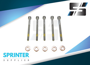 Injector Screw Retainer Bolt Washer Kit Seal O Ring Set Mercedes Sprinter 5 Cyl