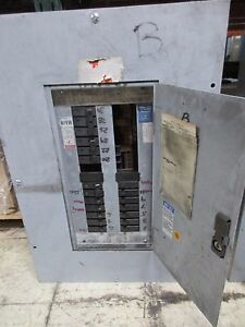 Westinghouse Main Lug Circuit Breaker Panel Prl1 100a 208y 120v 30 slot Used