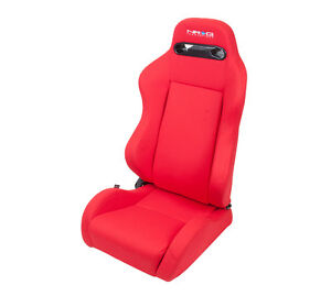 Nrg Innovations Rsc 210l R Type R Series Sport Bucket Seats Red Fabric Racing