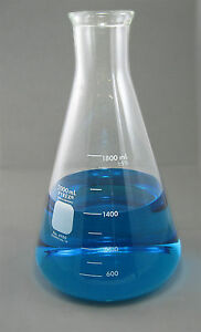 Nc 1347 Erlenmeyer Flask 2000ml 2 Liter Corning Pyrex Free Shipping