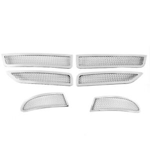 2011 2016 Dodge Journey Main Upper Lower Bumper Fog Stainless Mesh Grille Chrome