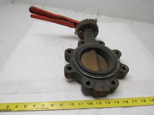 Mueller Steam 66m anb 6 1 4 Butterfly Valve Cast Iron Full Lug
