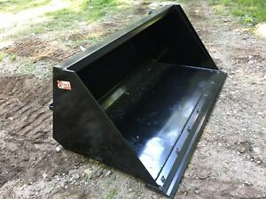 New Hd 72 Skid Steer tractor Snow mulch 6 Bucket With Detachable Cutting Edge