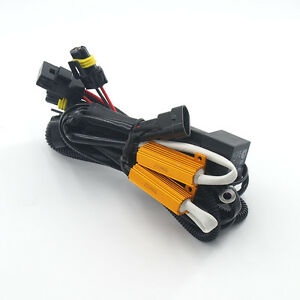 Hid Xenon Conversion Light Relay Wiring Harness Kit For H1 H8 H11 9006 9005 9007