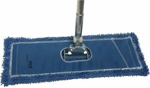 Dust Mop Kit 18 Blue Industrial Microfiber Dust Mop Wire Frame