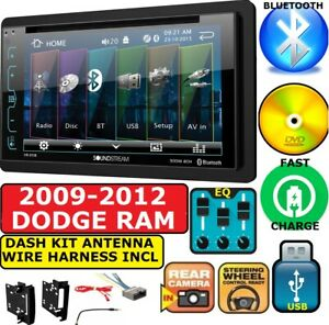 2009 2012 Dodge Ram Double Din Dvd bluetooth Dash Kit Car Stereo Radio Pkg