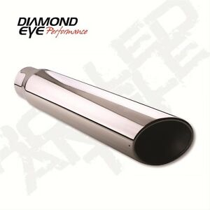 Diamond Eye Exhaust Tip Single Round Bolt On Stainless 5 Inlet 6 Out 5618bac