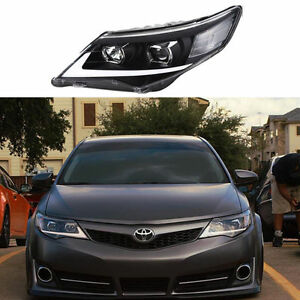 Toyota Camry 2012 2014 Led For Head Light Front Headlight Black Assembly Led