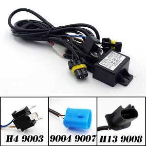 Hid Bi Xenon Relay Harness Wiring Controller For H4 H13 9004 9007 9008