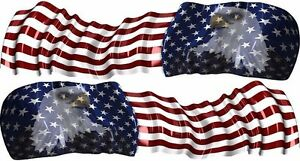 American Flag Eagle Go Kart Race Car Vinyl Graphic Decal Half Wrap
