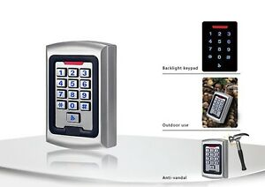 Us Automatic Sentry 300 12v Metal Rfid Heavy Duty Wired Keypad Waterproof Gate