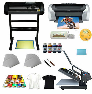 Heat Press vinyl Cutter printer ink paper T shirt Transfer Start up Kit