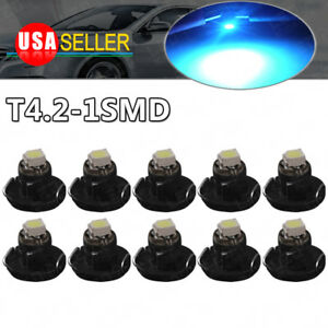 10x Ice Blue T4 T4 2 Neo Wedge Led Cluster Instrument Dash Interior Lights Bulb