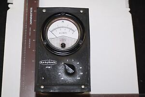 Triolab Model 103 Vtvm Vacuum Tube Volt Meter 1974 Metermod W Manual Diagrams