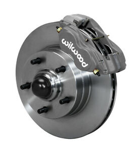 Wilwood Disc Brake Kit Front 64 74 Gm 11 1 Piece Rotors 4 Piston Black Calipers