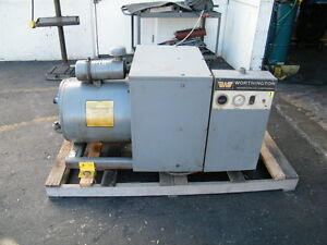 Worthington 25hp Rotary Vane Air Compressor Kaeser Ingersoll Rand 25rs100b Screw