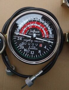 Massey Ferguson Tachometer With Cable Fits Mf35 mf50 mf65 mf135 mf150 Tractor