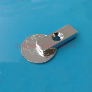 Block 30x10x 5mm Countersunk 4mm Strong Rare earth Neodymium Magnets N48