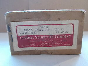 Central Scientific 99725 Heavy Duty Relay Nos 115v Square D Push Button Control