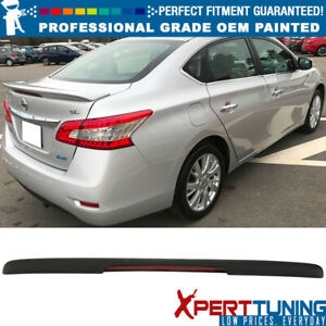 Fits 13 18 Sentra Factory Flash Mount Painted Trunk Spoiler Oem Painted Color