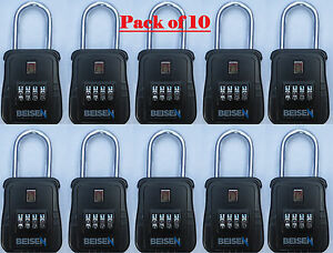 Pack Of 10 Lockbox Key Lock Box For Realtor Real Estate 4 Digit