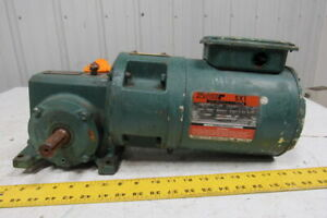 Reliance Electric 56wm16a 50 1 Gearbox Speed Reducer W 3 4hp 230 460v Motor