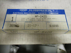 Wiegmann Np 2420 Electrical Enclosure Back Panel New