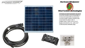 Solar Panel Starter Kit 50 Watt 12v Pv Off Grid Kit For Rv Boat Charge Control