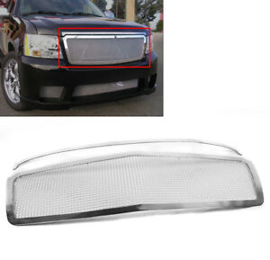 2007 14 Avalanche Suburban Tahoe Chrome Front Top Upper Mesh Grille Grill Insert