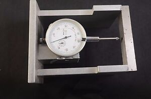 Dial Indicator Aluminum Stand Gauge Scale Precision Base Holder 001