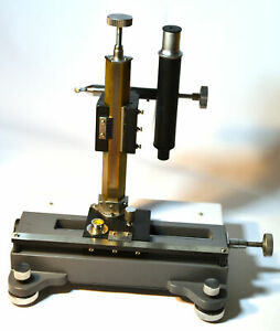 Vernier Travelling Microscope With 10x Magnification With Locking Wooden Case