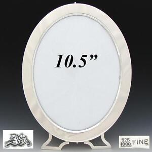 Antique American Sterling Silver 10 5 Oval Picture Frame New York C 1887 1903
