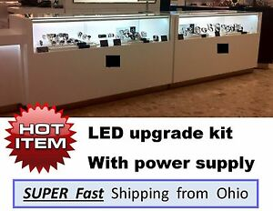 Display Case Showcase Led Complete Light Upgrade Kit No More Tubes